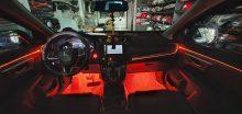 Led viền nội thất cho xe Honda HRV