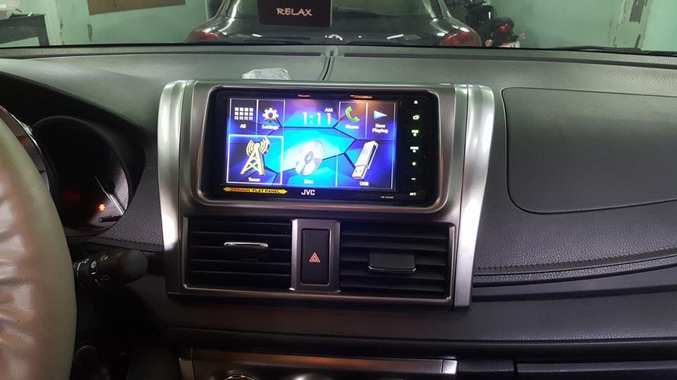 Lắp đặt màn hình dvd android cho Toyota Yaris