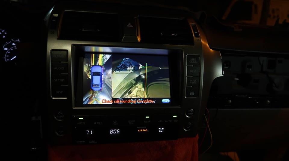Camera 360 độ chính hãng theo xe Lexus GX460
