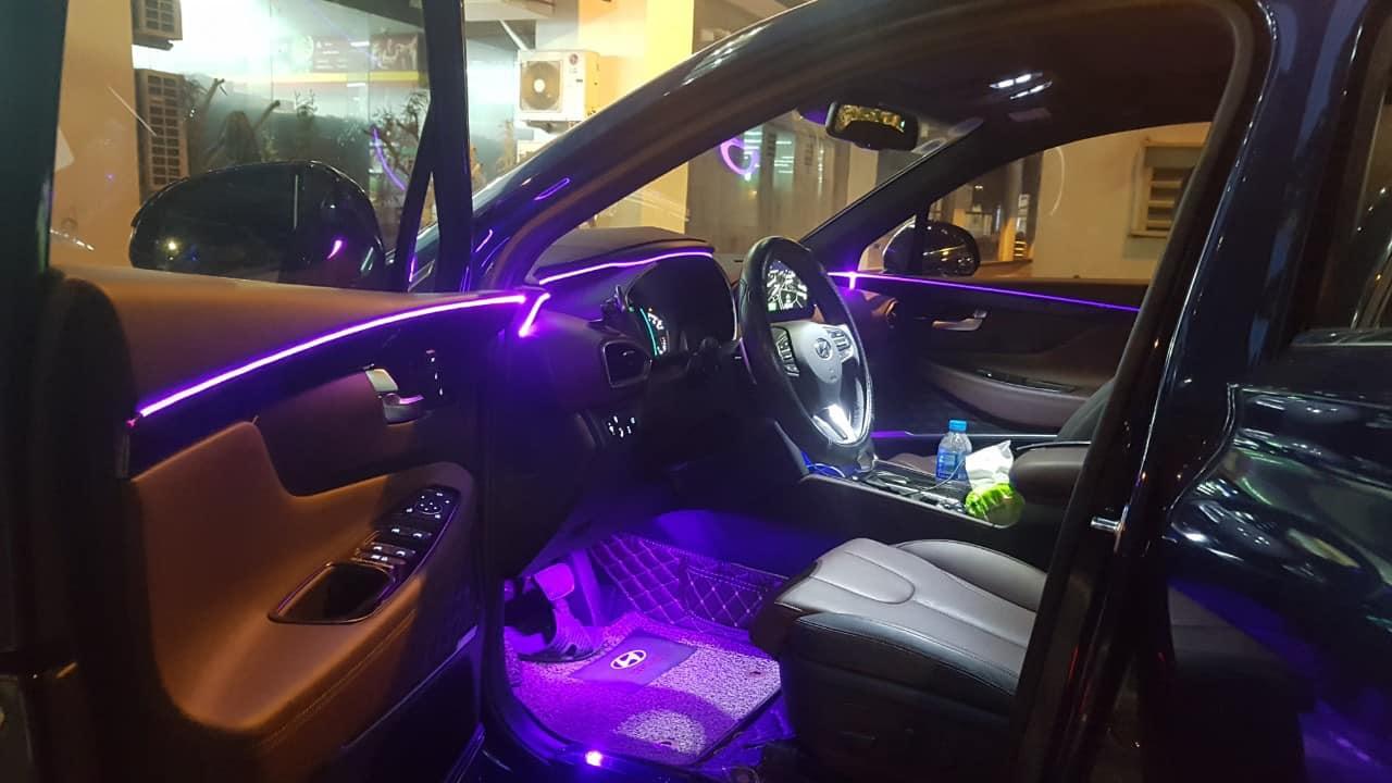Led viền nội thất xe Hyundai Santafe